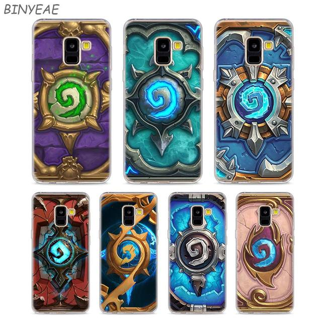 new product 2d1bf 21b39 US $2.2 30% OFF|Transparent TPU Phone Cases Hearthstone Heroes of Warcraft  for Samsung Galaxy A8 A7 A6 A5 A3 Plus 2018 2017 2016-in Fitted Cases from  ...