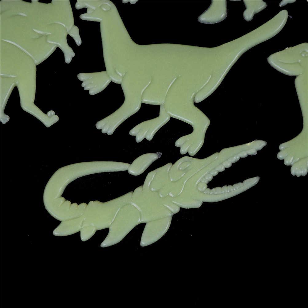 9 pièces chaudes brillent dans le noir dinosaures jouets autocollants plafond décalcomanie bébé chambre d'enfant