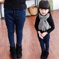 Детская одежда 2017 весной и осенью дети брюки зимние плюс бархатные утолщение девушки джинсы для 3-14y