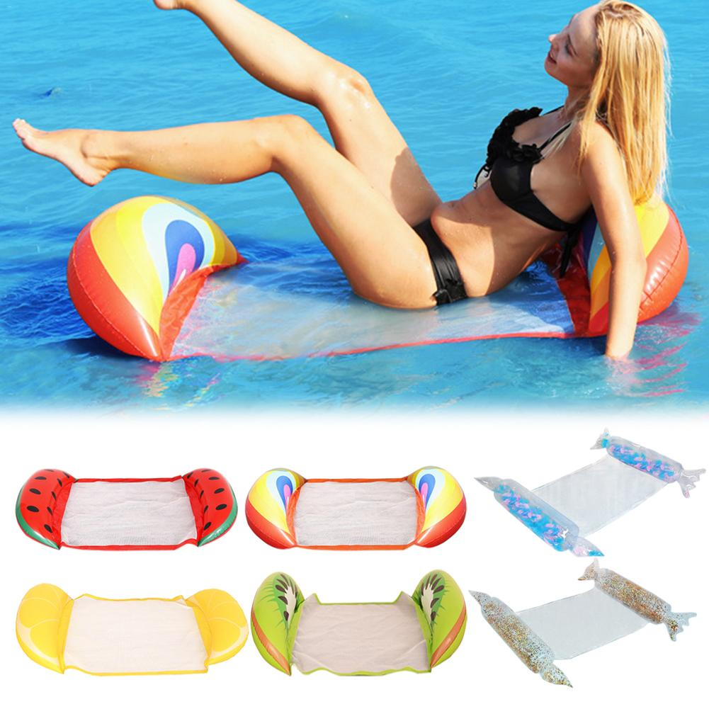 Foldable Floating Water Hammock Deck Chair Inflatable Toys Bed