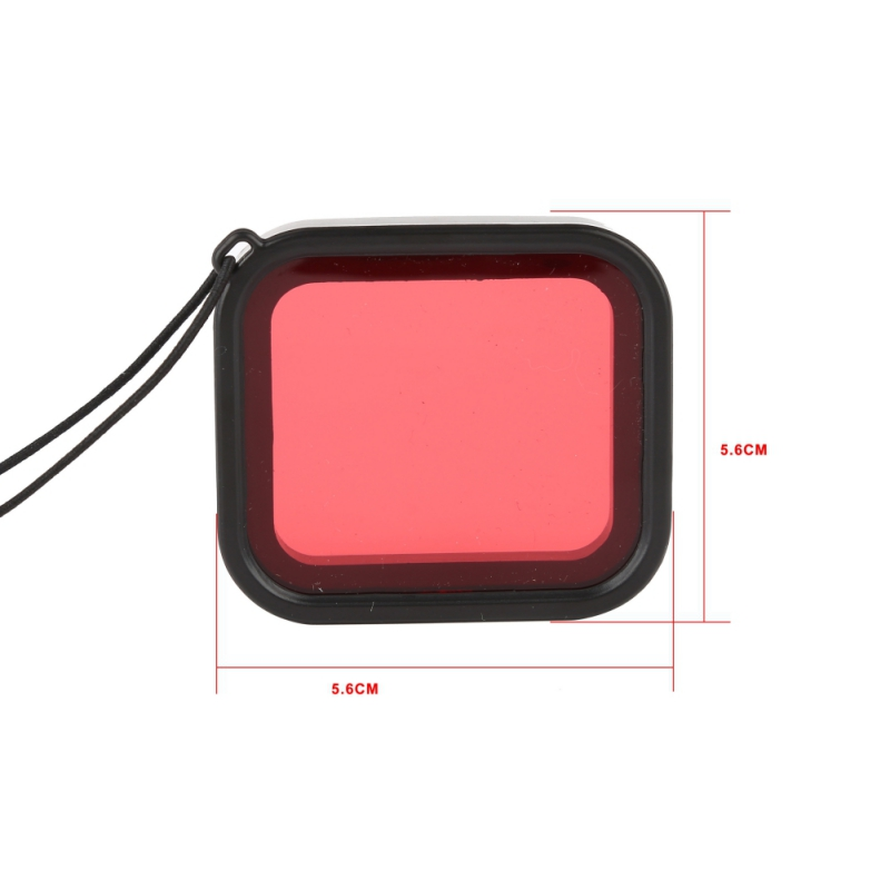 Universal Diving Filter Red for Gopro Hero 5 Waterproof Protect Shell Camera Lens for Gopro Hero Camera Dustproof Lens Skirts