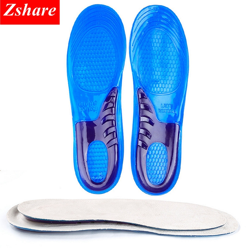 1 Pair Plus Size Silicone Gel Insoles Man Women Insoles orthopedic Massaging Shoe Inserts Shock Absorption Shoe pad