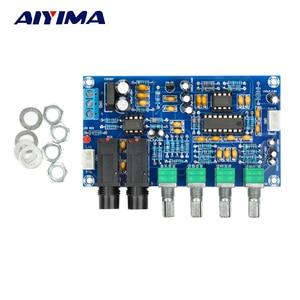 Image 1 - AIYIMA PT2399 amplificateur de Microphone numérique carte karaoké réverbération carte karaoké OK amplificateur Module double AC12V