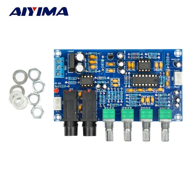 AIYIMA PT2399 mikrofon cyfrowy płyta wzmacniacza Karaoke płyta pogłosowa Karaoke OK moduł wzmacniacza Dual AC12V