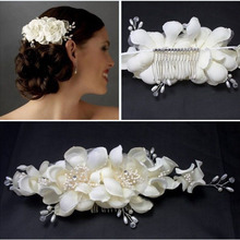 Bridal Simulated Pearl Flower Headbands For Women White Crown Comb Tiara Headdress Wedding Hairbands Hair Accessories  цена 2017