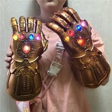 FIGURA DE ACCIÓN DE guantelete de guerra, luz LED, guantes de Thanos, regalo para chico y adulto, 1:1
