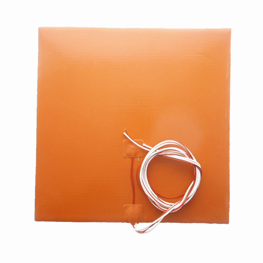 DuoWeiSi 3D Printer parts 28x28CM Heatbed Thermostor Silicone Heater Pad 120/<font><b>220</b></font>/240V 200/300/500/600/700W 280mmx280m <font><b>heat</b></font> <font><b>bed</b></font> image