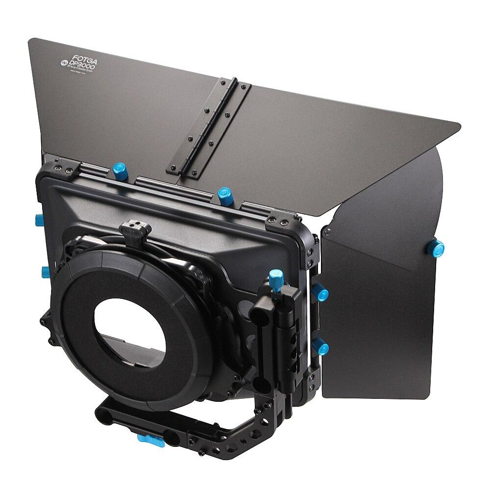 FOTGA DP3000 Pro DSLR matte box parasol w/beignets porte-filtres f 15mm rod rig