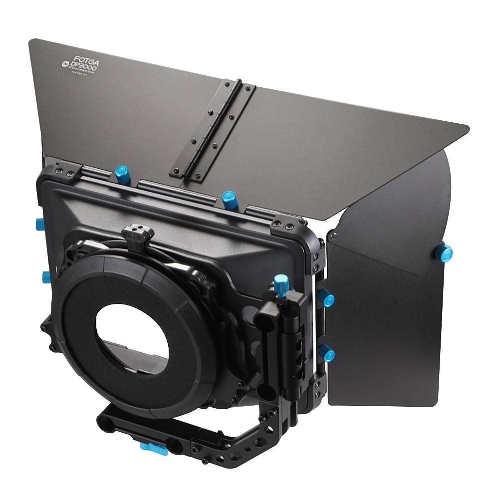 FOTGA DP3000 Pro DSLR matinis dėžutės saulės skydelis su sparnų filtru f 15mm strypų įrenginys