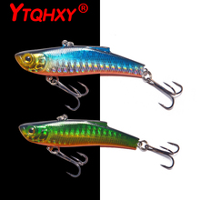 YTQHXY 7cm/18g Sinking VIB Fishing Lure Minnow Artificial Bait Vibration Winter Ice Full Swimming Layer Hard Bass WQ492A