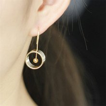 7 accessories wholesale inspired design geometrical element round earrings stud contracted man woman