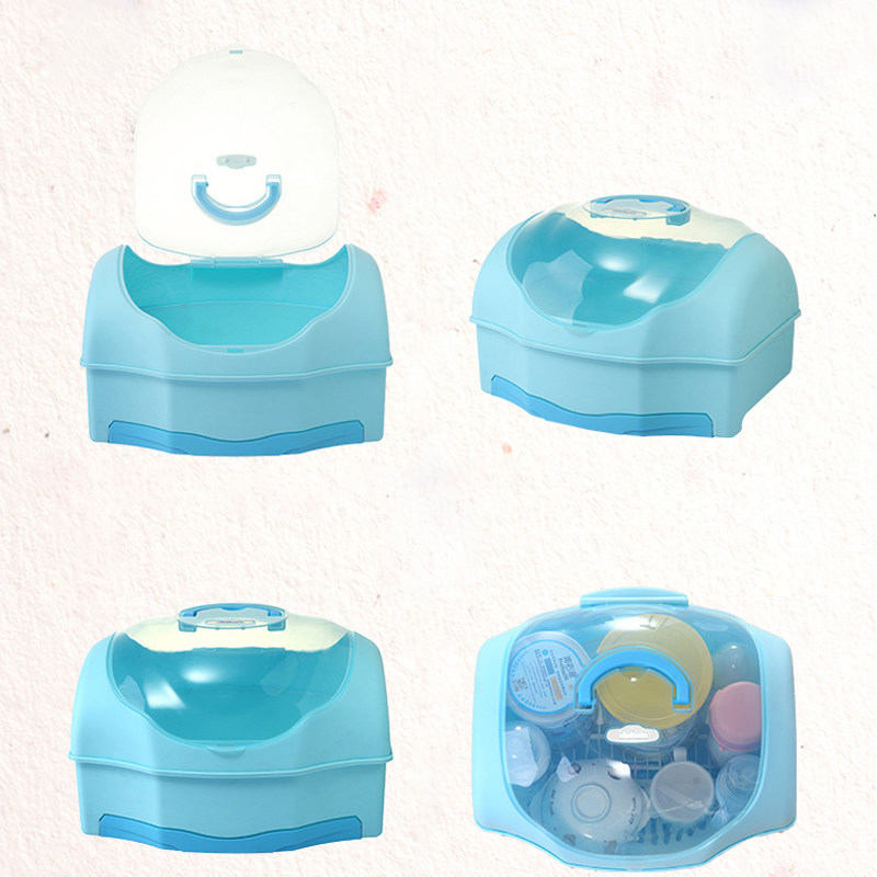 Reizbaby Baby Bottle Storage Containers Children Dishes Cups Holder Drying Rack With Cover Infant Cleaning Dryers In From Mother