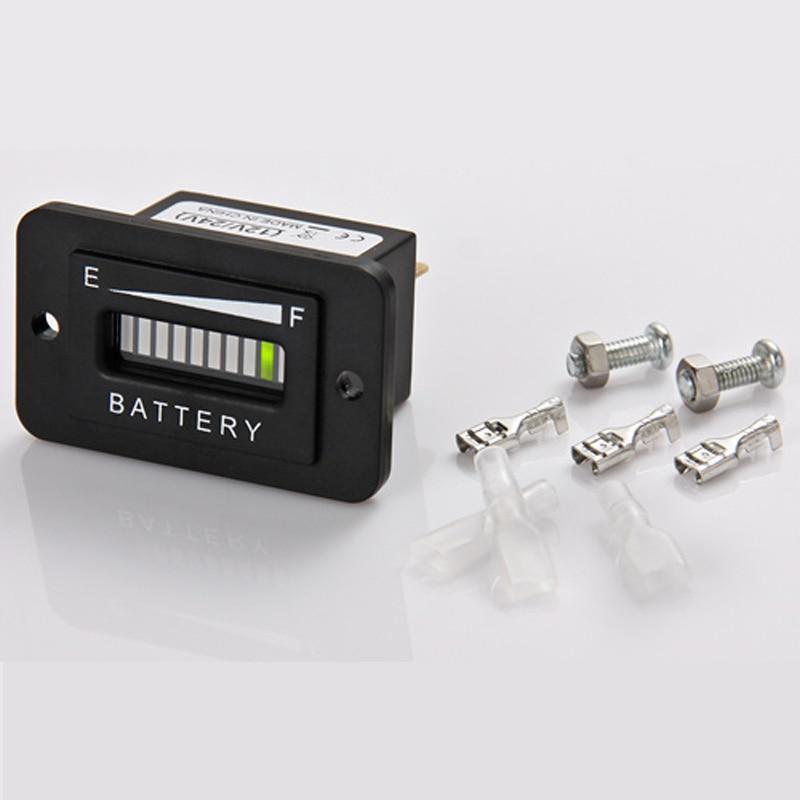 Lead acid storage battery 12/24V LED Battery Level Indicator for Golf Kart Truck Electric Vehicle Car RL-BI003