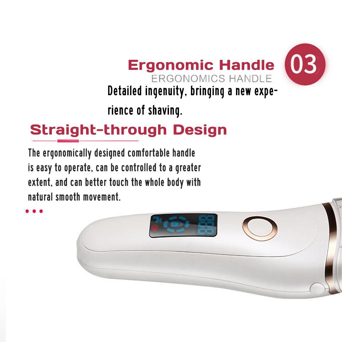 Перезаряжаемый светодиодный электробритва для женщин для удаления волос на ногах/Бритва для сухого влажного бритья 100 в/240 в 16x4 см три ножа комбинация белого АБС-пластика