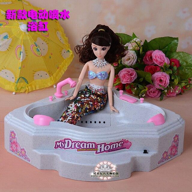 Listrik Baru Semprotan Air Bak Mandi Mandi Mainan Furniture Set 30 Cm Boneka  Aksesoris Boneka Barbie e425a7a47e