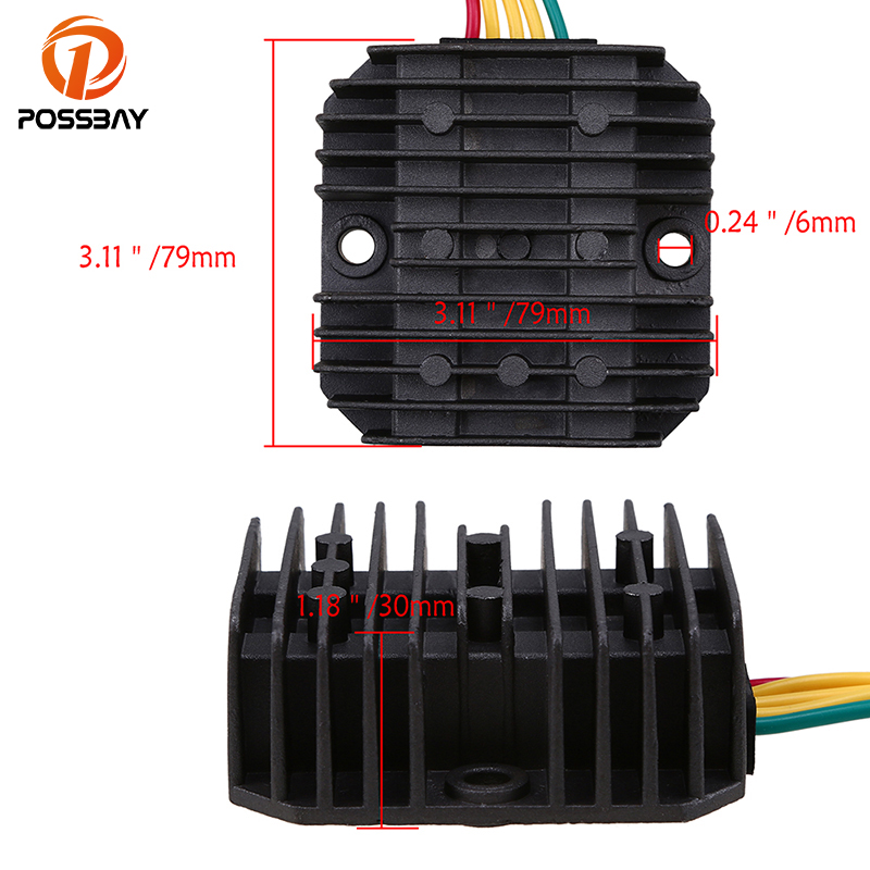 POSSBAY Black Motorcycle Voltage 12V Regulator Rectifier fit for Honda NX4 Falcon 1999 2000 2001 2002 2003 2004 2005 06 07 2008 in Motorbike Ingition from Automobiles Motorcycles