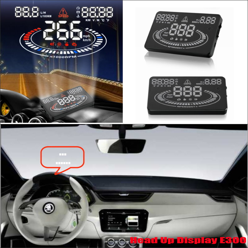 Car HUD Head Up Display For Skoda Superb / Yeti 2015 2016 - Safe Driving Screen Projector Inforamtion Refkecting Windshield