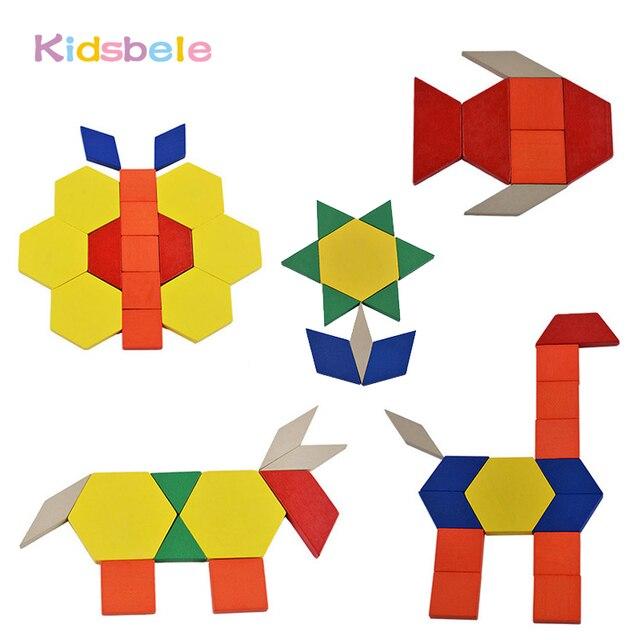 Bebé juguetes educativos Jigsaw junta para colorear bloque Brinquedo ...