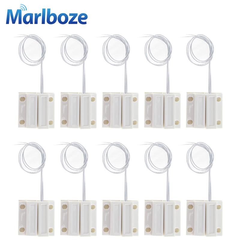 10pcs/lot Normally Closed Wired Door Window Sensor 330mm Wire Lengthen Randomly Magnetic Switch Home Alarm System NC Door Sensor free shipping 1pcs wired door window sensor 330mm wire lengthen randomly magnetic switch home alarm system normally closed nc