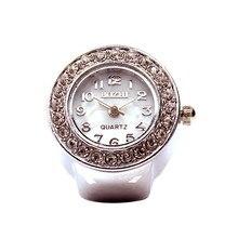Relógio De Quartzo mostrador Analógico Aço Criativo Fresco Elastic Quartz Watch Ring Finger bayan kol saati relógio feminino Top marcas * 3