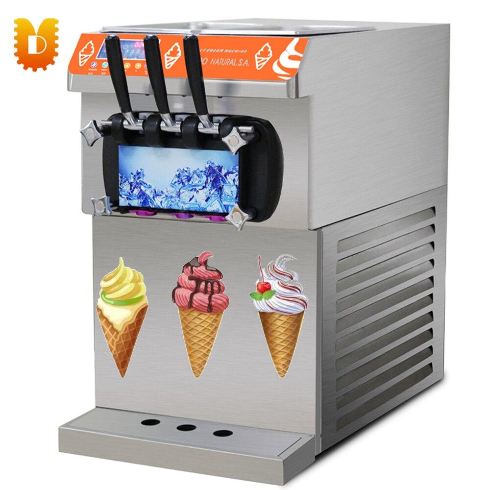 Machine de crème glacée molle de Certification de la CE de dessus de Table/crème glacée faisant le prix de Machine