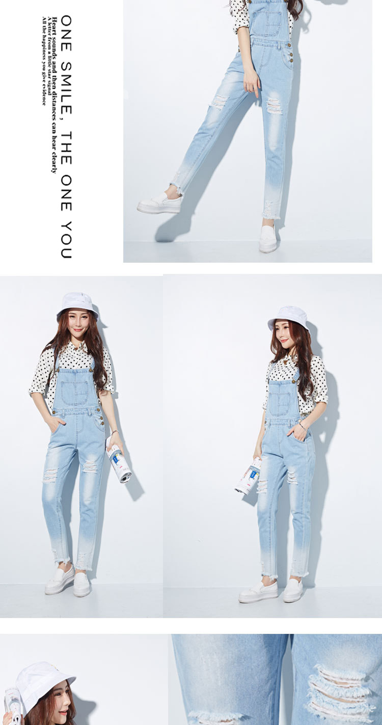 HCYO Fashion Jumpsuit Female Denim Overalls for Women Bodysuit salopette femme En Jean Women Ripped Hole Denim Jumpsuits Rompers (10)