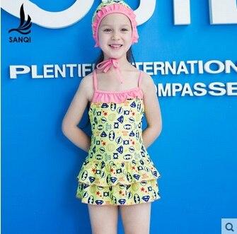 ФОТО  children's swimsuit girls skirt pattern style swimming supplies swimwear 5 12 years