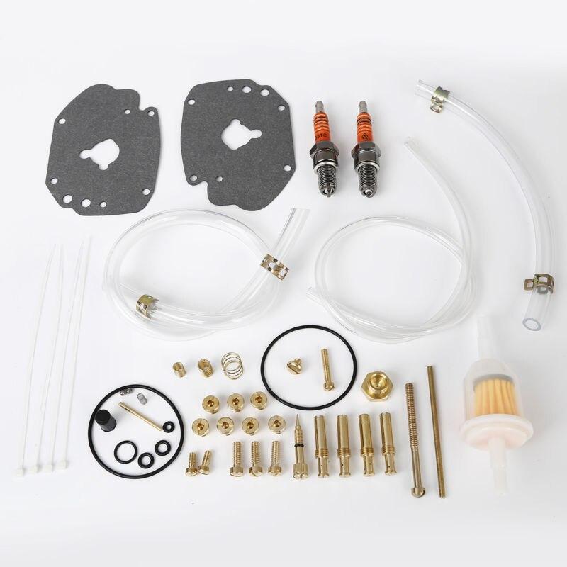 TCMT Carburetor Rebuild Kit Bellows Seal Throttle Shaft Spring For Harley Super E Gas Carbs Carburetor Motorcycles Models цены