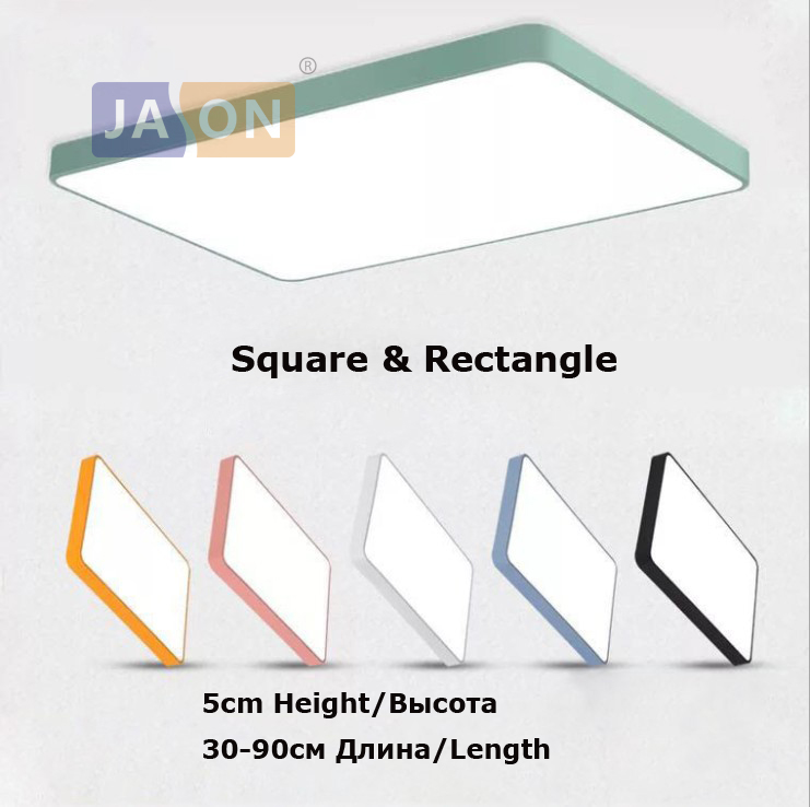 Modern Led Ceiling Iron Acryl Colorized Round 5cm Super Thin Led Lamp.led Lights Latest Technology Lights & Lighting