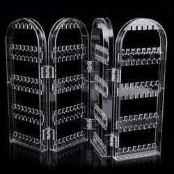 Прозрачный пластик Складные серьги цепочки и ожерелья Jewelry дисплей стенд держатель стойки портативный хранения ювелирных изделий