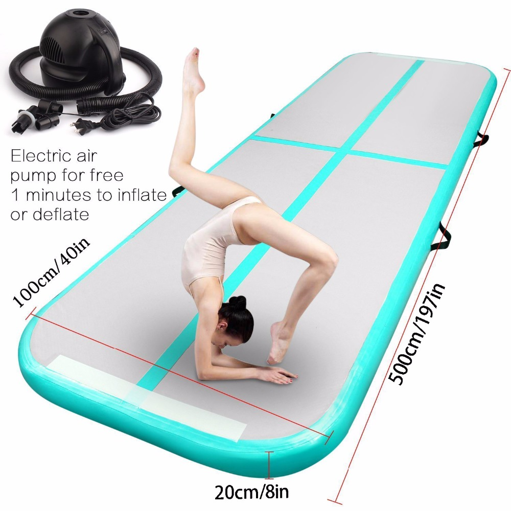2019 New Airtrack 5 1 0 2m Inflatable Air Tumble 5M 4M Track Olympics Gym Mat