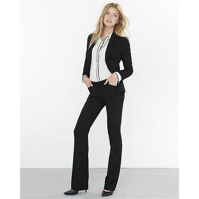 Pants suit Black 2 piece set women formal pant suits for weddings ...