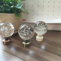 "2Pcs/Lot Drapery Curtain 28mm (1.1"")  Rod Aluminum Decorative  End Cap Finial Bubble  Ball Design"