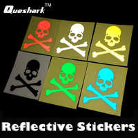 1Pc DIY Bike Bicycle Luminous Reflective Skull Heads Decals Stickers Cycling MTB Road Mountain Bike Fixed Gear Skeleton Stickers