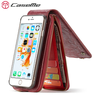 CaseMe Song For Apple IPhone 6 6s Plus Luxury Wallet Card Pocket Leather Phone Cases Magnetic