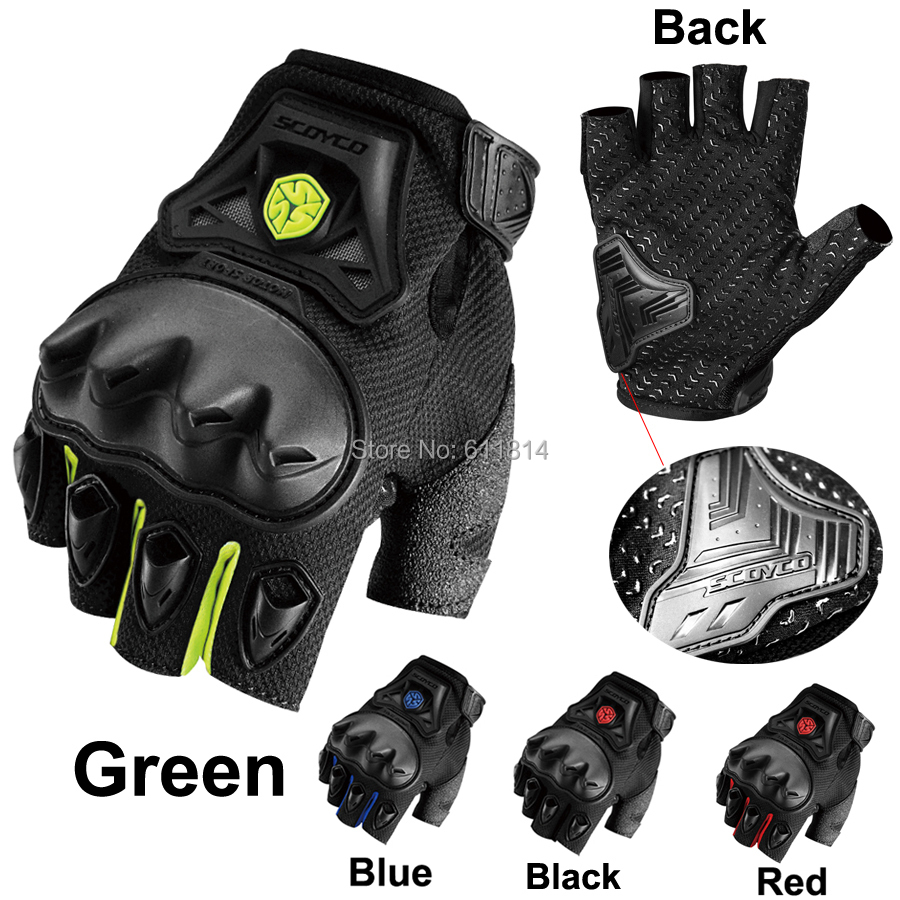 Aliexpress com buy scoyco mc29d motorcycle gloves half finger protective shell palm silicon racing sports silicon gloves motorbike gants moto from