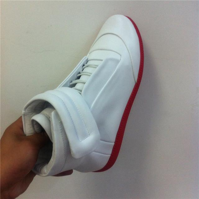 2016 couro Genuíno ankle boots Margiela alta top clássico cor mens sapatos tamanho grande 39-47