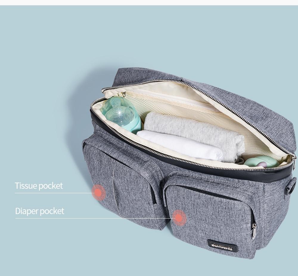 HTB1WywHXAY2gK0jSZFgq6A5OFXab SUNVENO Diaper Bag For Baby Stuff Nappy Bag Stroller Organizer Baby Bag Mom Travel Hanging Carriage Pram Buggy Cart Bottle Bag