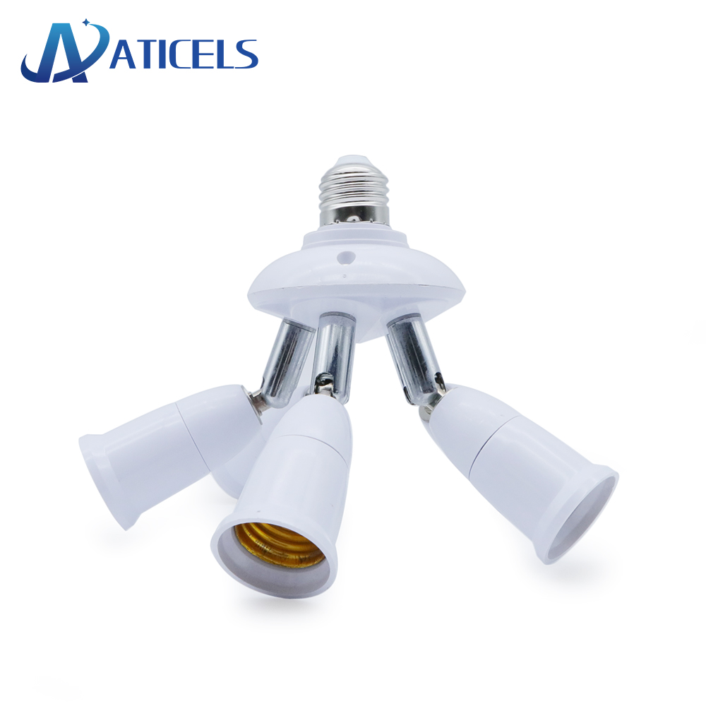 2/3/4/5 In 1 Socket Splitter E27 To E27 Lamp Base Adapter Converter Flexible Extended Lamp Holder For LED Lamp Bulbs