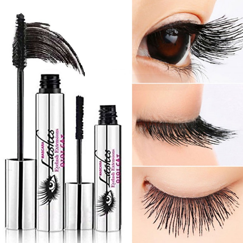 4D Mascara Waterproof Mascara Cream Makeup Eyelash Black Eyelash Extension crazy long Style Warm Water Washable Mascara