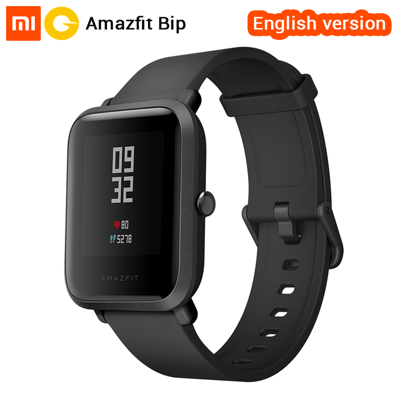 Xiaomi Huami Amazfit Bip Smart Watch [English Version] Smartwatch Pace Lite Bluetooth 4.0 GPS Heart Rate 45 Days Battery IP68 english version original xiaomi huami amazfit youth smart watch bip bit face gps fitness tacker heart rate baro ip68 waterproof