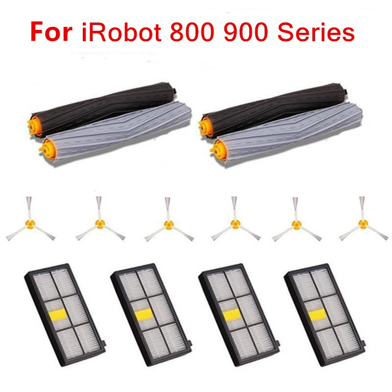 14Pcs Tangle-Free Debris Extractor Hepa filter brush kit for iRobot Roomba 800 900 series 870 880 980 Robot vacuum cleaner parts 3pcs high quility dust hepa brush filter replacement for irobot roomba 800 900 series 870 880 980 vacuum cleaner robot parts