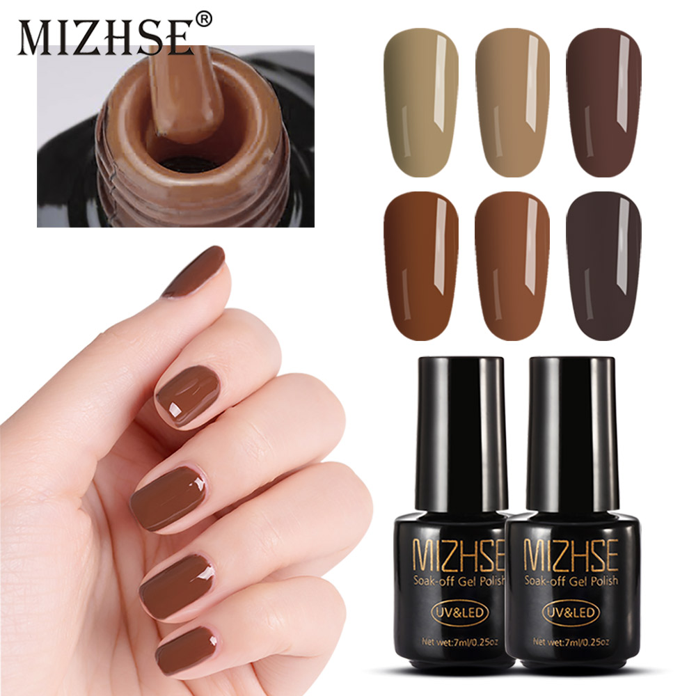 MIZHSE 7ML UV Gel Nail Polish Soak Off Nail Gel Lacquer Esmaltes Gel UV LED Nail Art Enamel Single-Phase Gel Varnish Hybrid