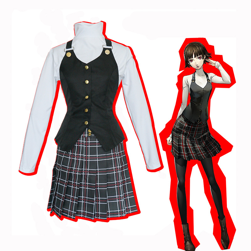 Anime Game Persona 5 Queen Makoto Niijima Cosplay Cotumes Clothes Full Set Halloween Carnival Party Uniform For Women 2018 persona 5 makoto nijima cosplay costumes women school uniform