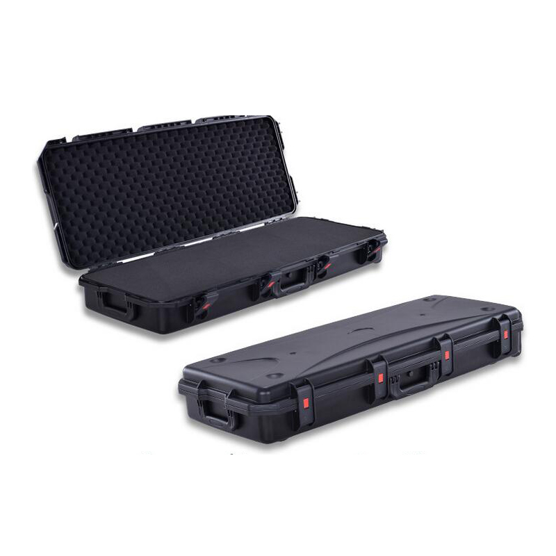 SunQian SQ4002 Long Size  Waterproof Hard Plastic Case With Pick Pluck Foam,with Wheels For Easy Carrying