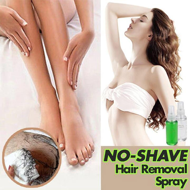 NO-SHAVE Hair Removal Spray PRE & After Wax Treatment Spray Liquid Hair Removal Remover Waxing Sprayer Set