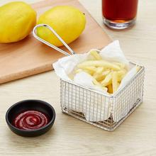 Stainless Steel Chips French Fries Fried Food Portable Storage Mesh Basket Mini Frying Strainer Fryer For Kitchen Cooking