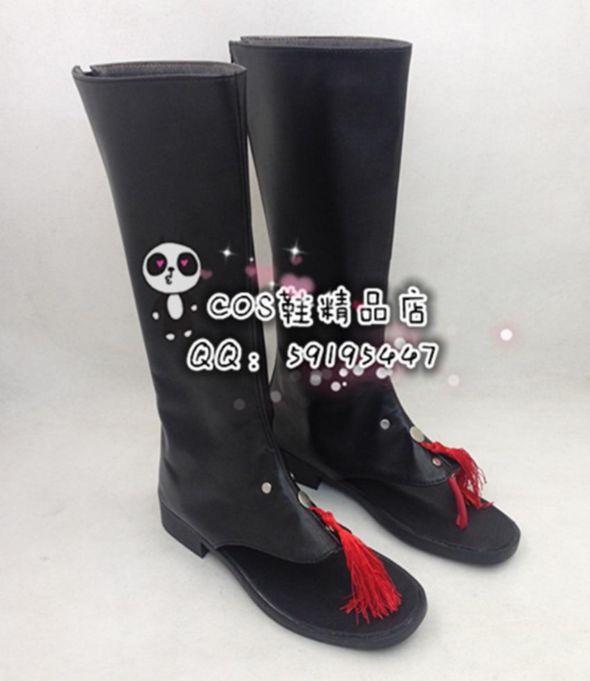 Dramatical Murder Koujaku Black Long Cosplay Boots Shoes X002