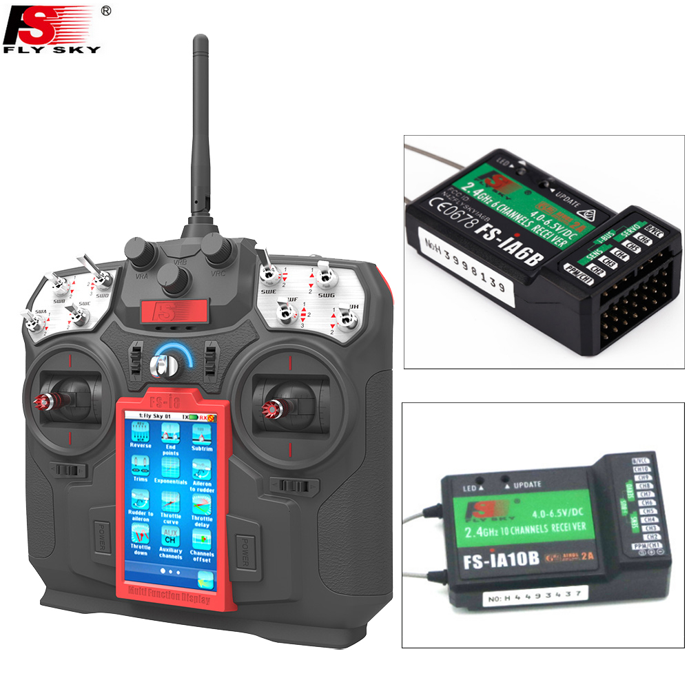 FS-I8,1set Flysky FS-I8 Transmitter+IA6B/IA10B Receiver For RC Drone Quadcopter Fixed-wing Helicopter(Mode1 And Mode2)