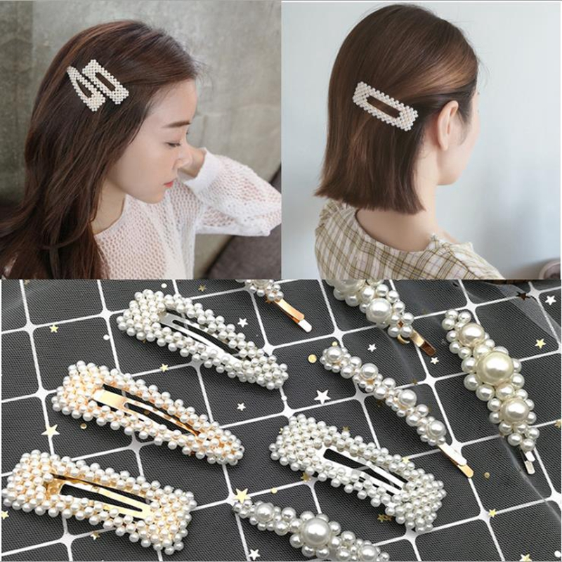 Pearl Hair Clip for Women Elegant Korean Design Pearl Metal Hair Clips Hairpin Hair Styling Accessories Instagram Hot Sell in Hair Jewelry from Jewelry Accessories